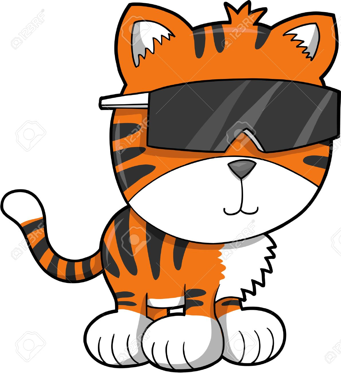 Cool Tiger Vector Illustration Stock