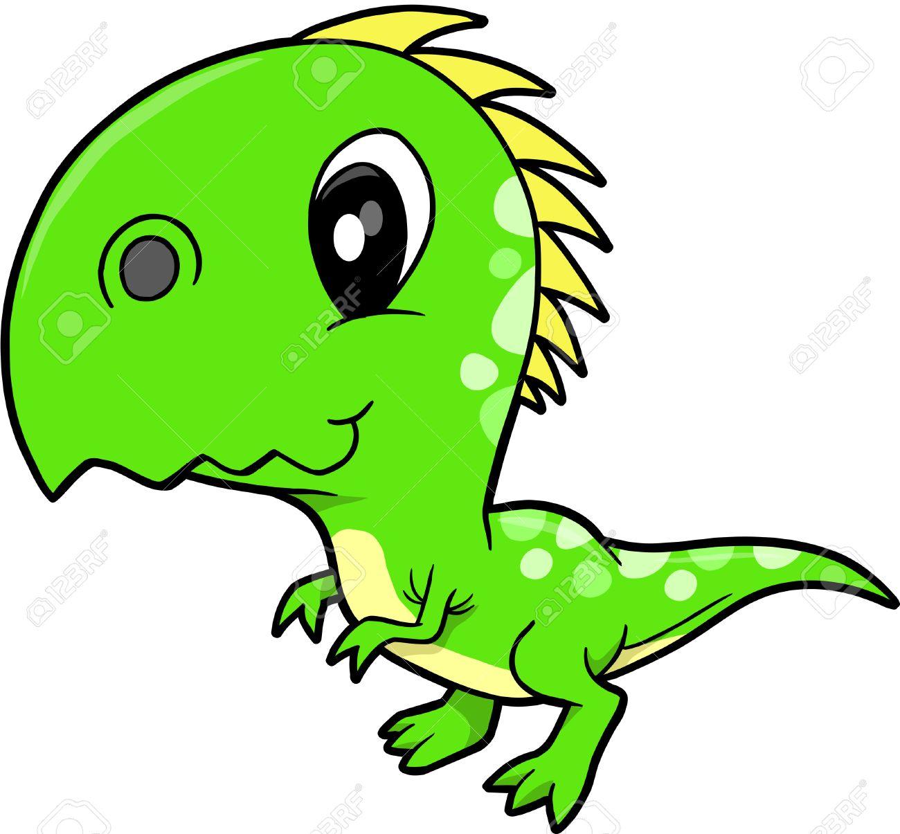 Cute vector dinosaurio Foto de archivo - 3753087
