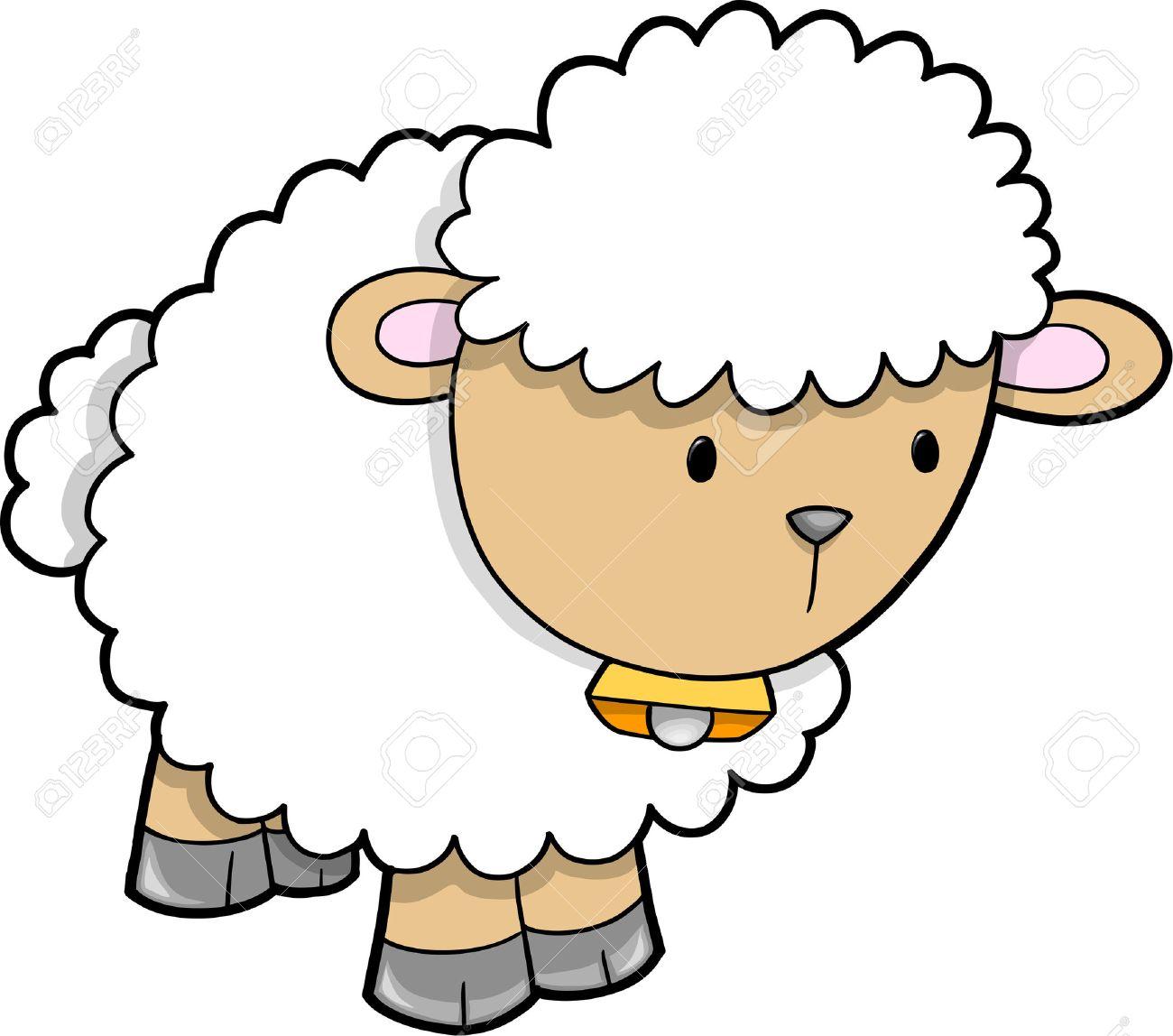 cute sheep vector illustration royalty free cliparts vectors and rh 123rf com sheep vector png sheep vector line