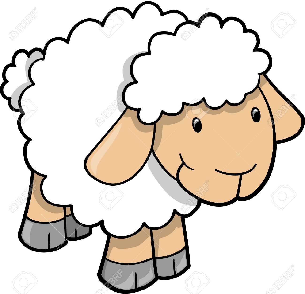 sheep vector illustration royalty free cliparts vectors and stock rh 123rf com sheep vector silhouette sheep vector silhouette