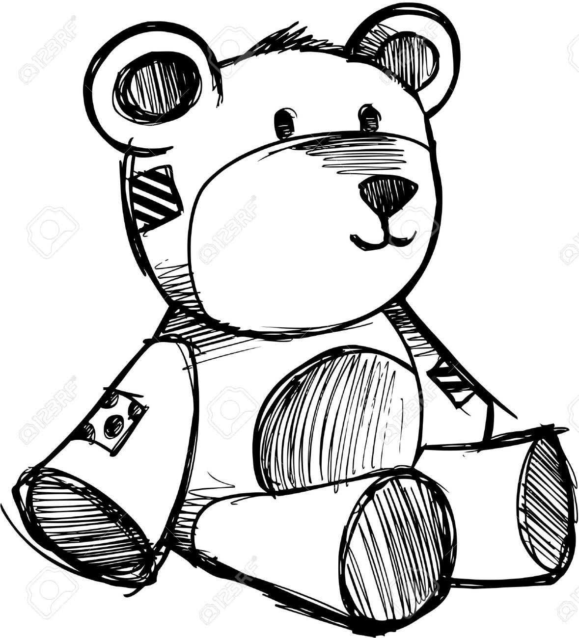 sketchy teddy bear vector illustration royalty free cliparts rh 123rf com teddy bear vector silhouette teddy bear vector illustration
