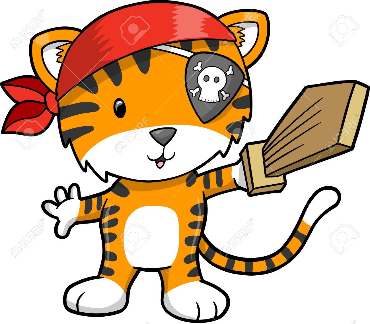 Pirate Tiger Illustration - 6726544