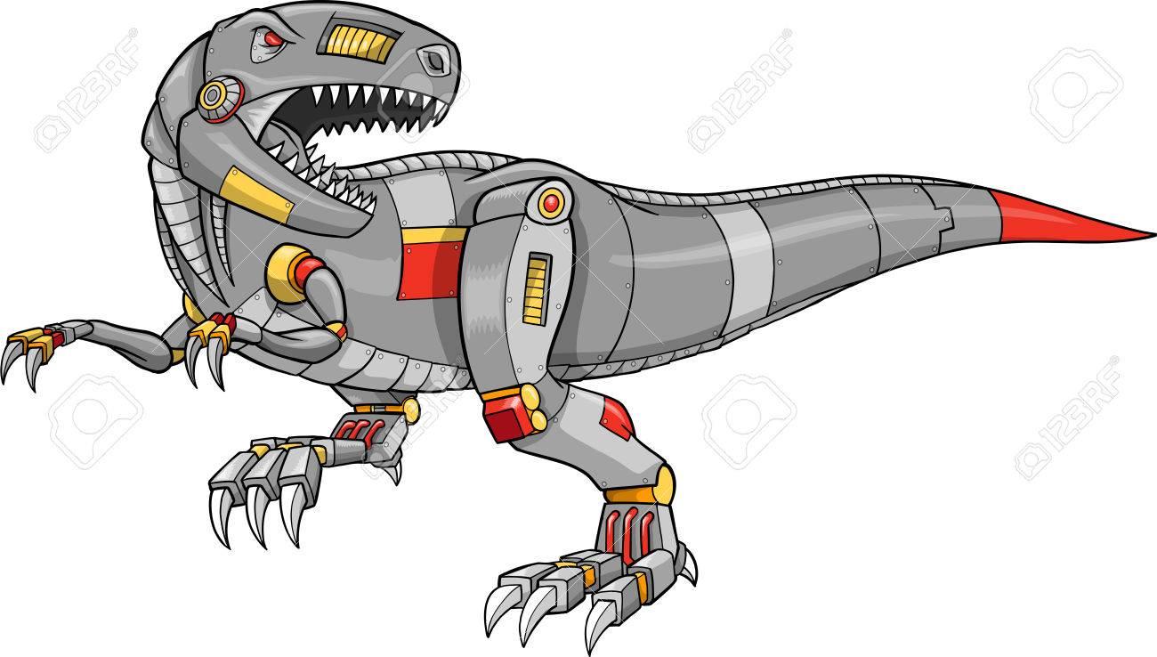 Colabora con la Mecánica de Robots 6749631-ilustraci%C3%B3n-de-un-dinosaurio-de-t-rex-de-robot
