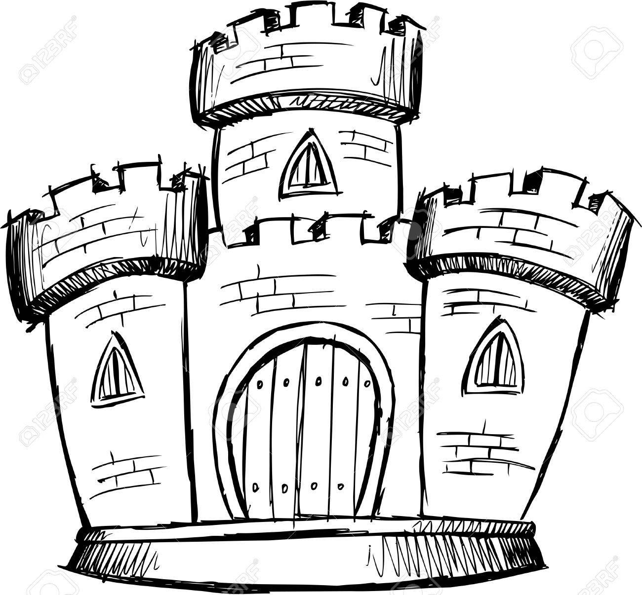 Doodle Sketchy Castle Stock Vector - 6774909
