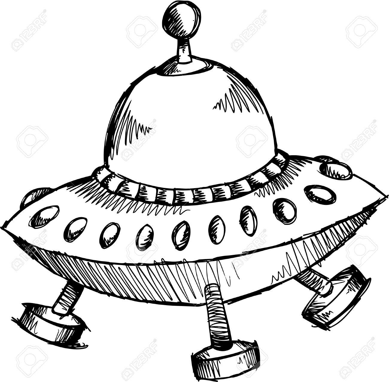 落書きのスケッチ宇宙船イラストのイラスト素材ベクタ Image 6784493
