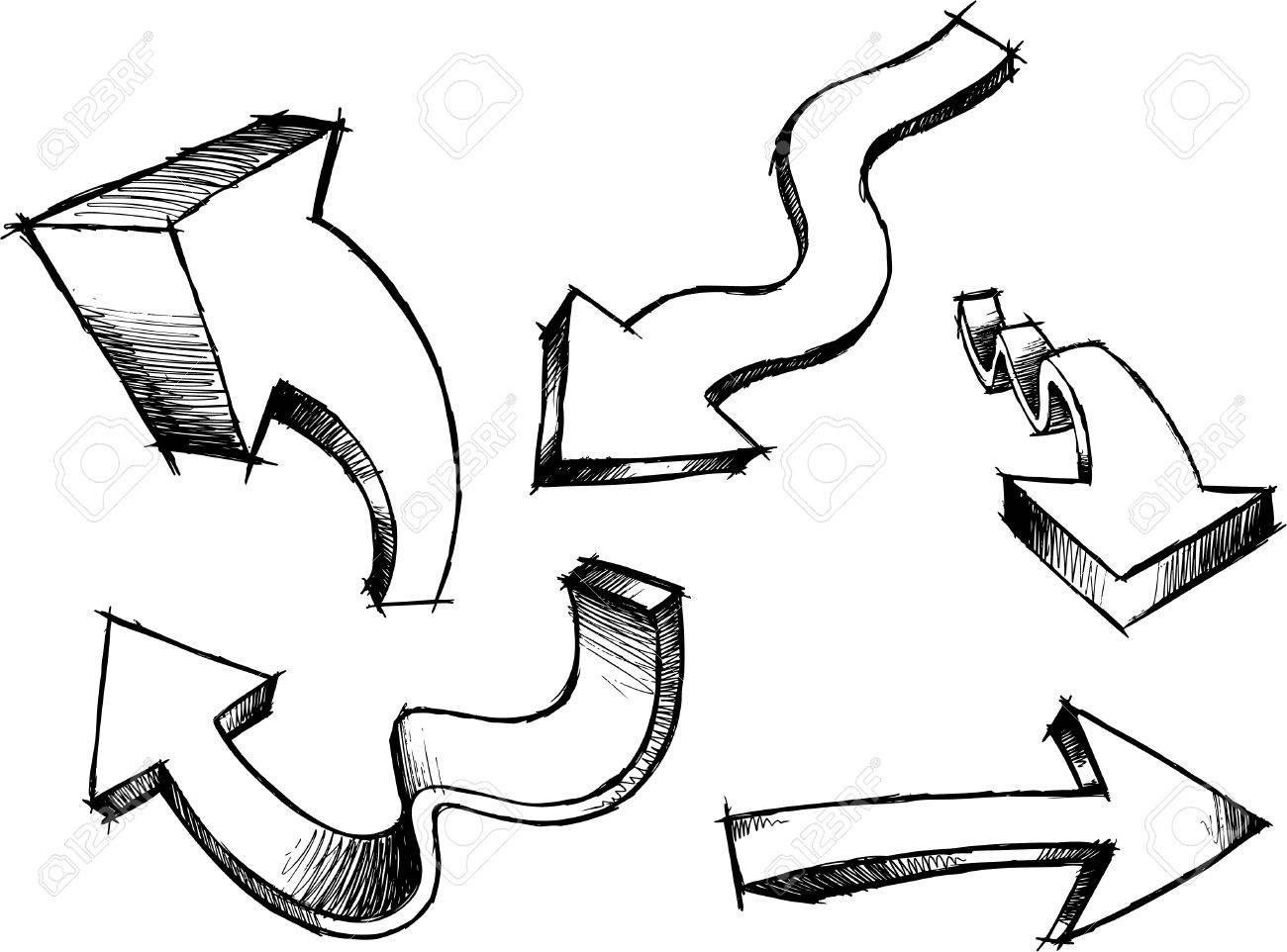 Sketchy Arrows Illustration - 6847566