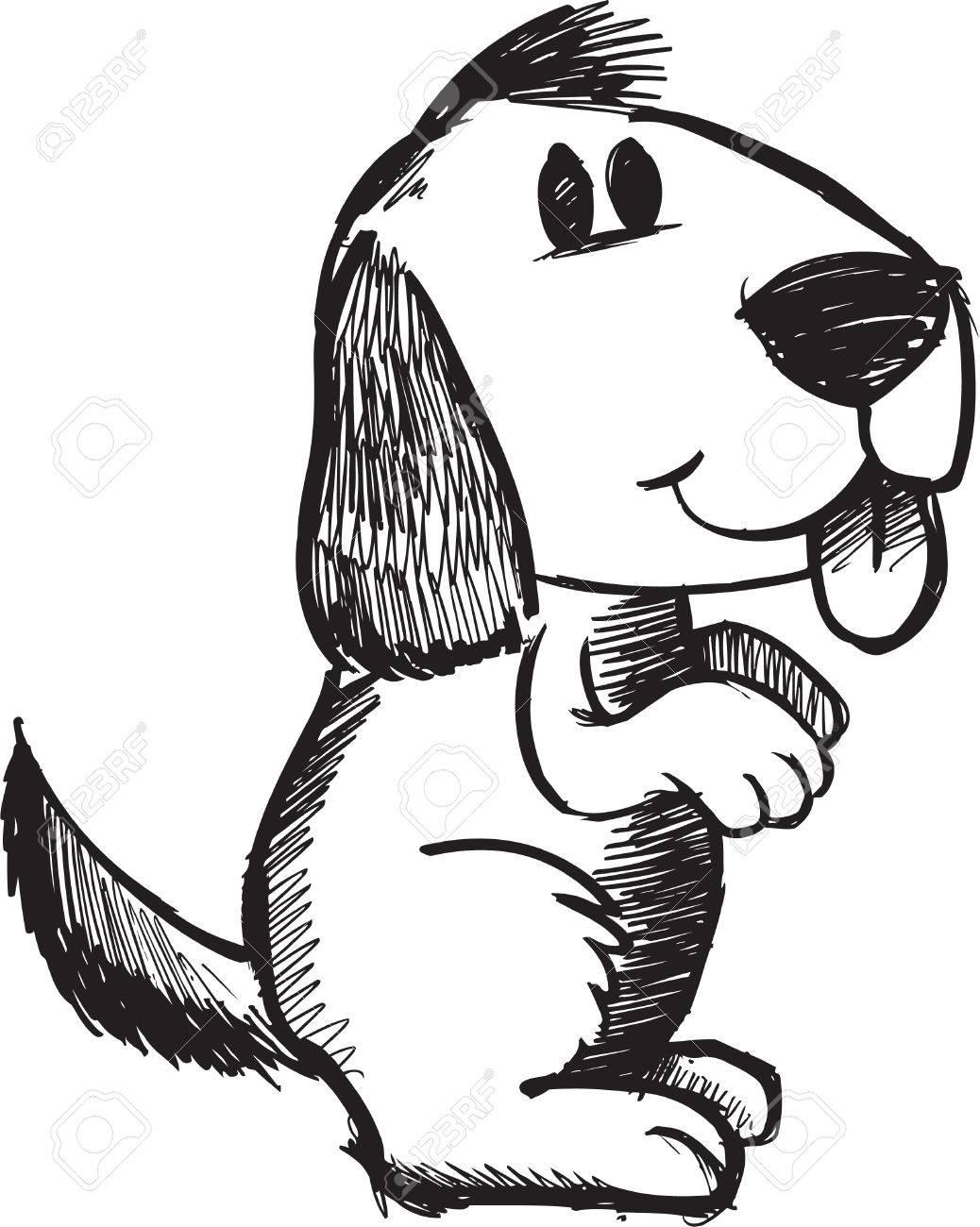 Sketchy doodle Dog Illustration - 6883671