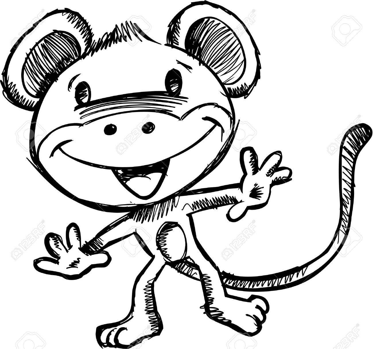 Doodle Sketchy Safari Monkey Stock Vector - 7167223