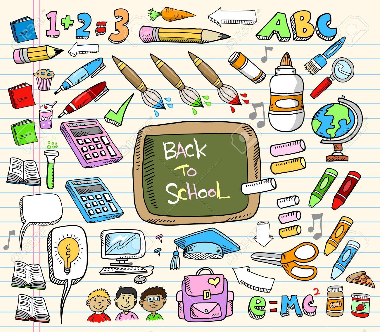 Back to School Doodle Education Illustration Set - 7261097