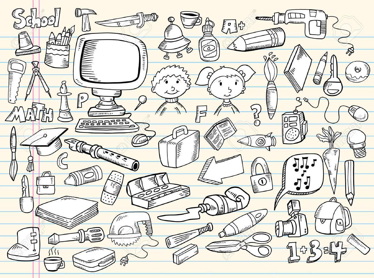 Notebook Doodle Speech Bubble Design Elements Mega Illustration Set - 7261105