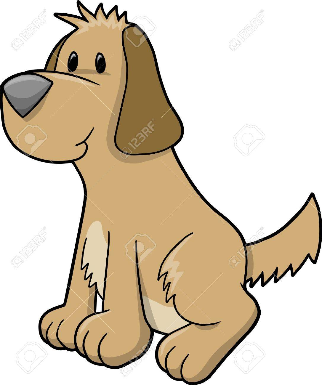 Super Cute Puppy Dog Illustration - 10031042