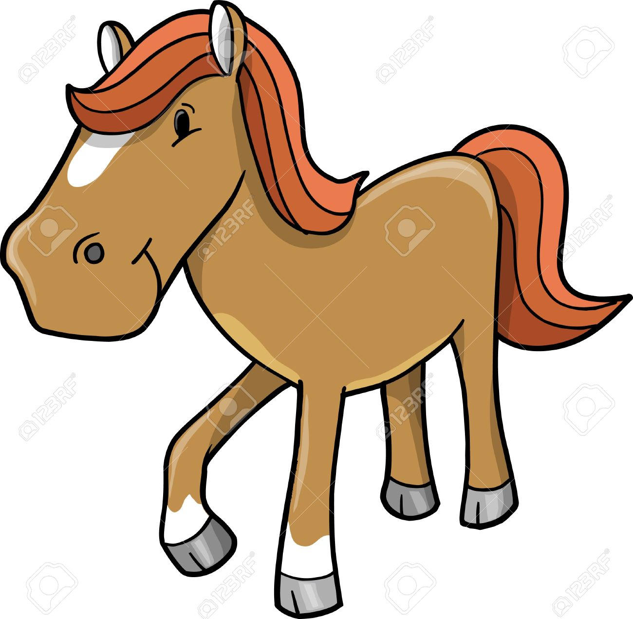 cute horse pony vector illustration royalty free cliparts vectors rh 123rf com  cute horse head clip art