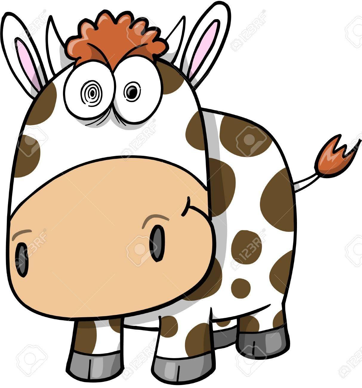 Crazy Insane Cow Illustration - 11546826