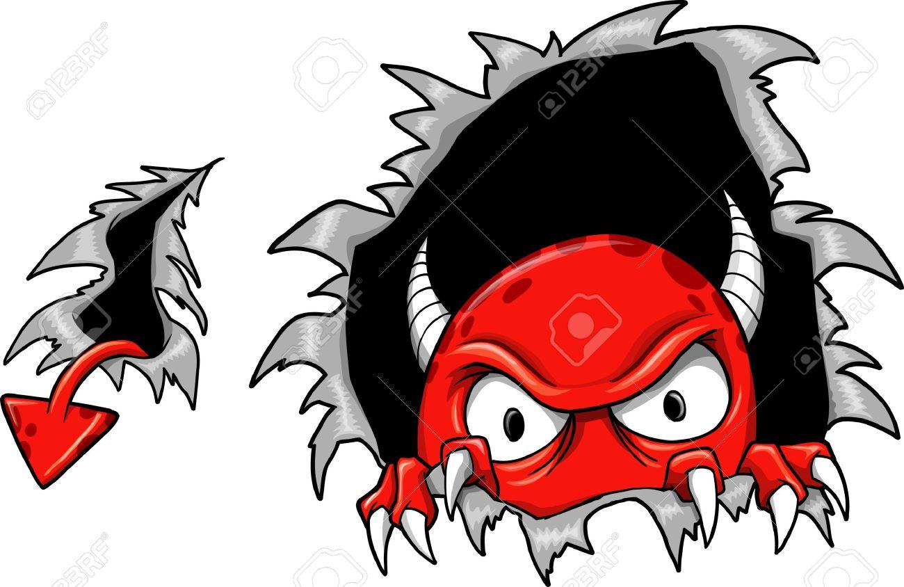 Evil Demon Devil Monster Vector Illustration - 11546841
