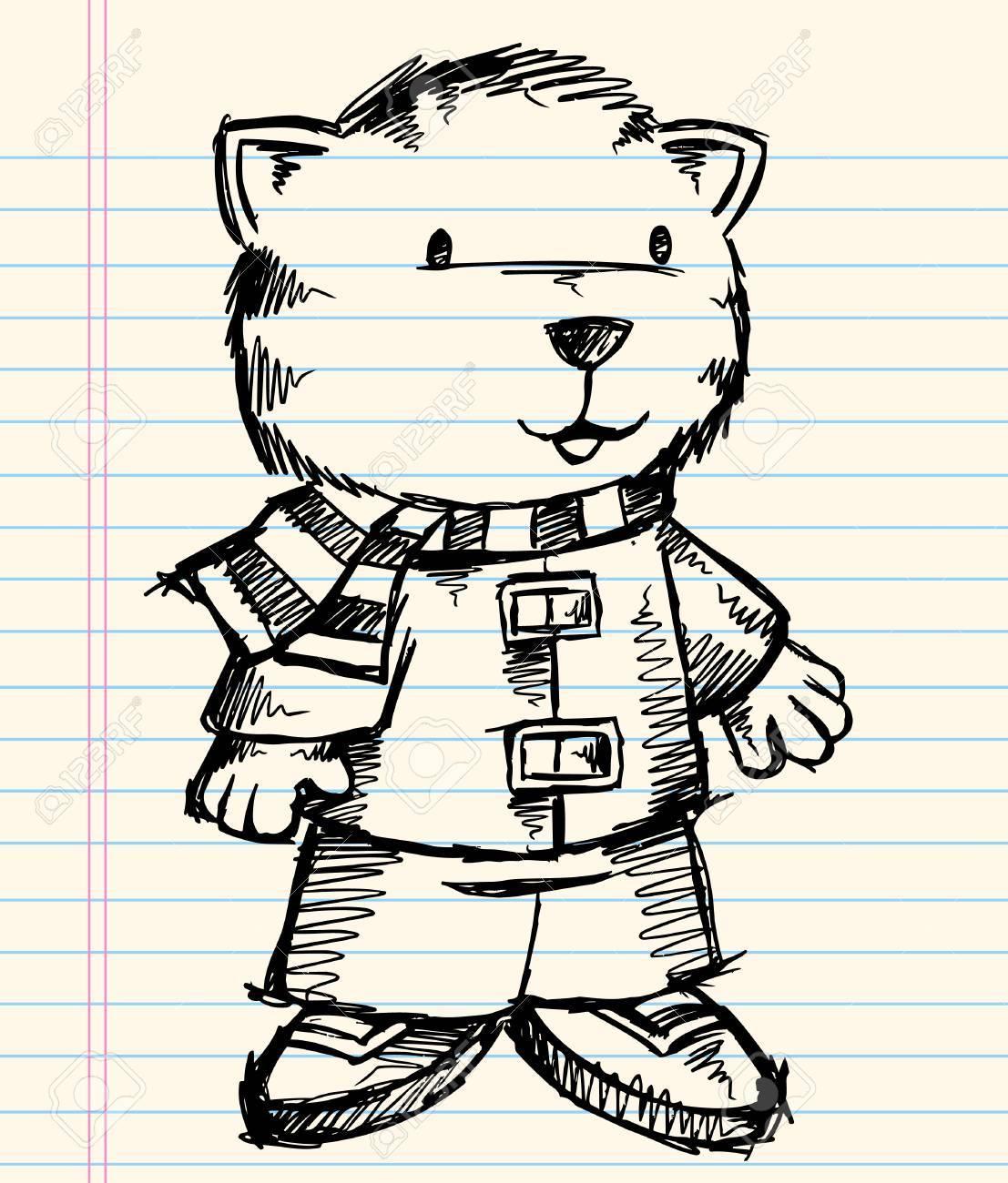 Notebook Doodle Sketch Tigre Vecteur De Vacances Art Illustration De ...