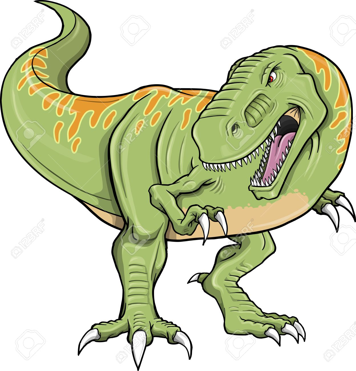 Tyrannosaurus Dinosaur Vector Illustration - 11655612