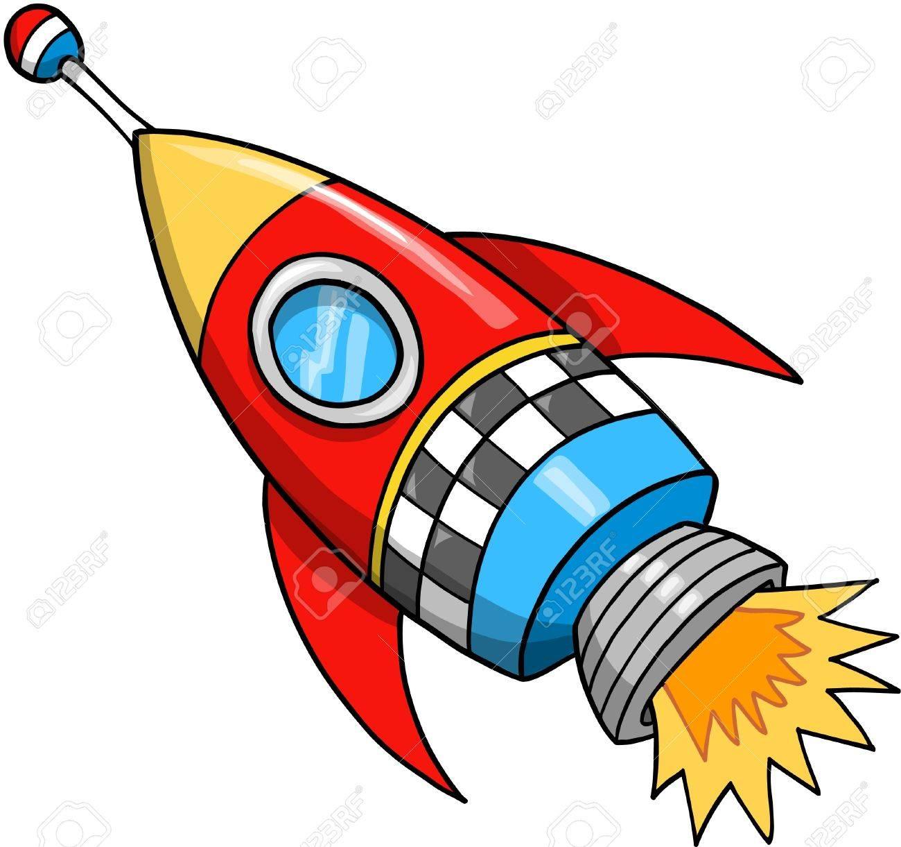 Cute Rocket Vector Illustration - 11655614