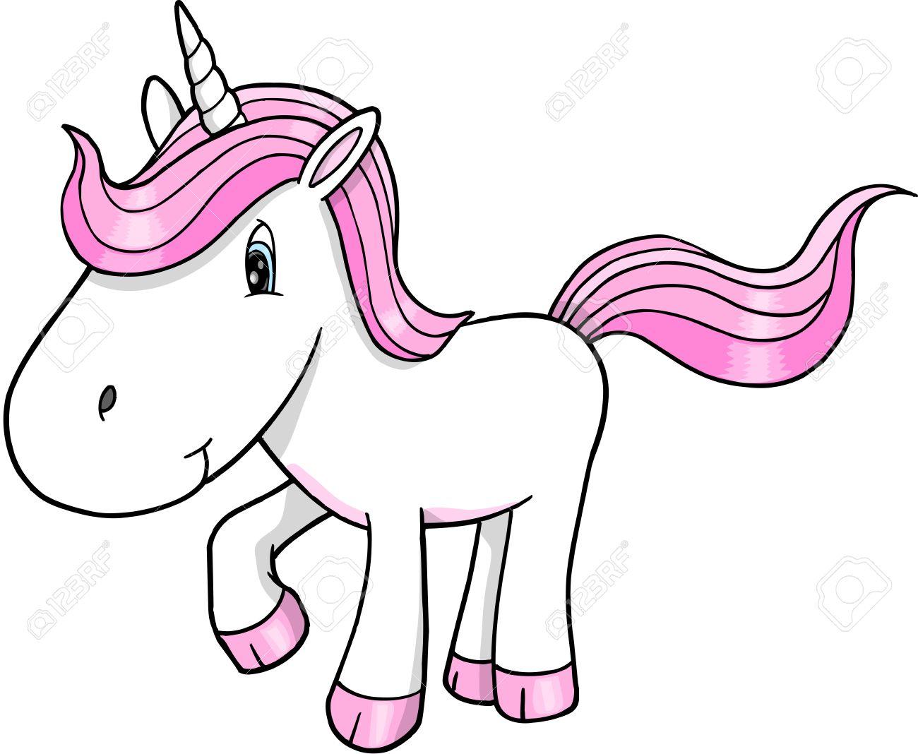 cute unicorn vector illustration art royalty free cliparts vectors rh 123rf com free unicorn vector images free vector unicorn face