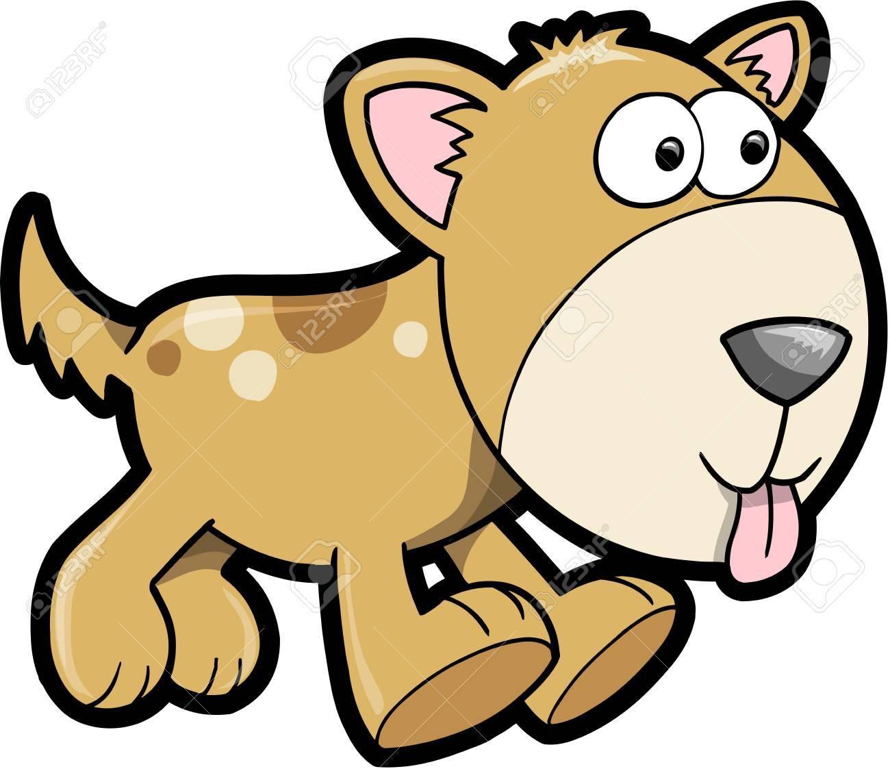 Happy Puppy Dog Animal Vector Illustration Art Stock Vector - 12413998