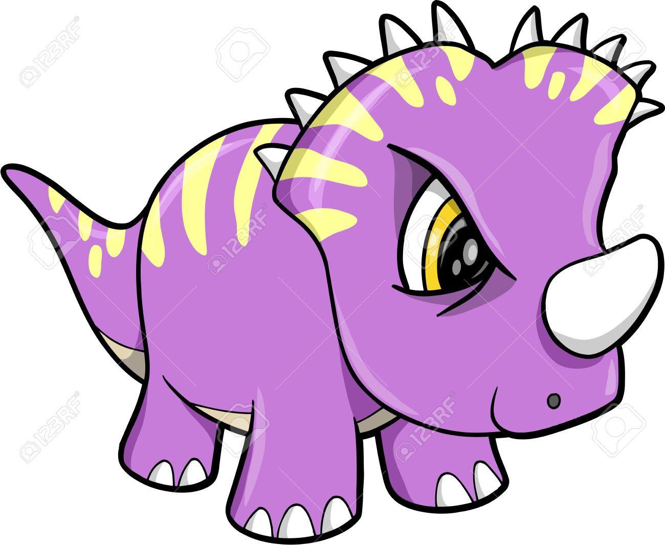 Tough Cute Dinosaur Animal Vector Illustration Art Stock Vector - 12415091