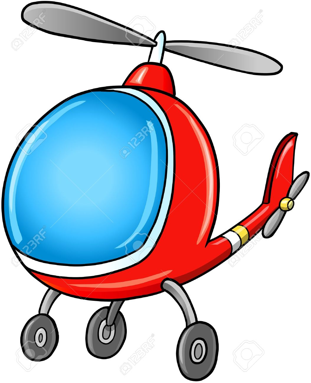 Doodle Cartoon Helicopter