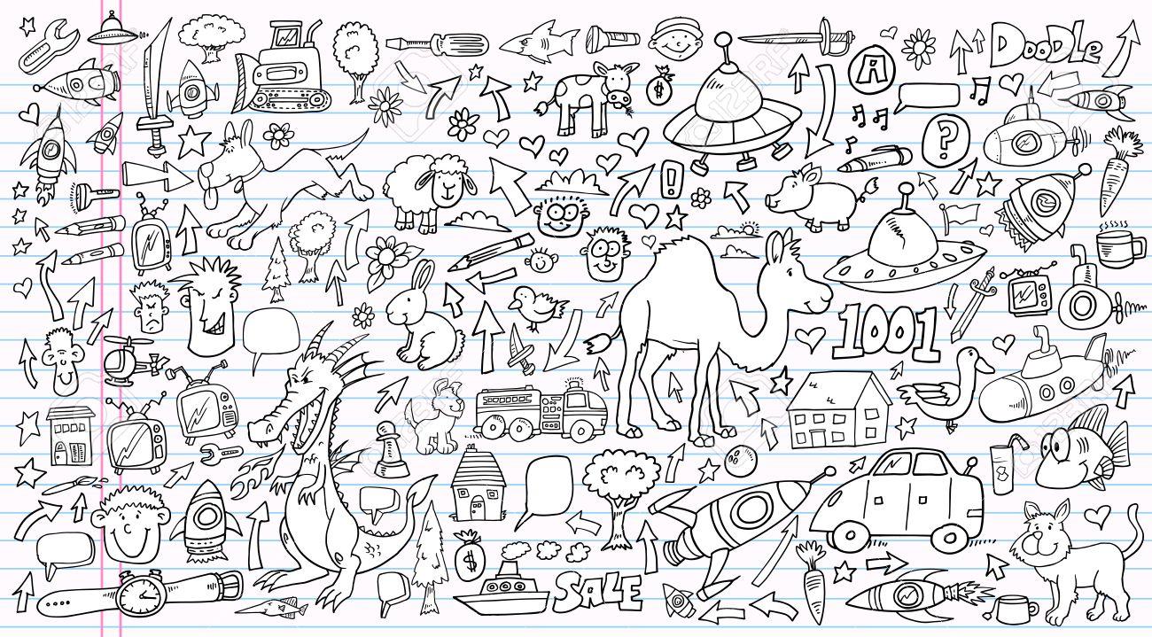 Notebook Doodle Clip art Design set Stock Vector - 14413680