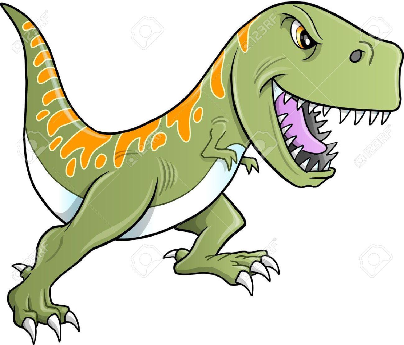 タフなティラノサウルス恐竜イラストのイラスト素材ベクタ Image