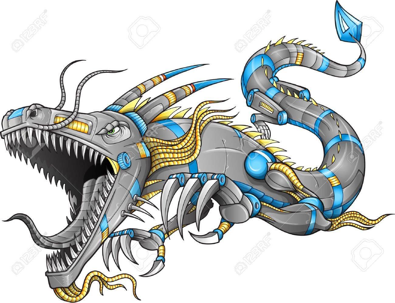 Robot Cyborg Dragon - 15560468