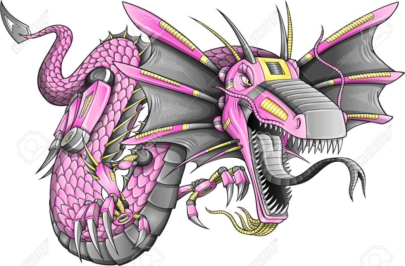 Robot Cyborg Dragon - 15560469