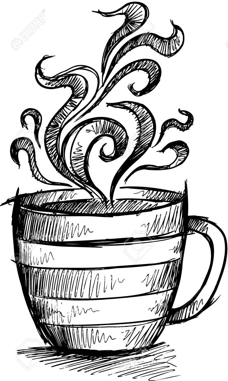 Coffee cup sketch - Sketch Doodle Coffee Cup Illustration Art Stock Vector 17223394