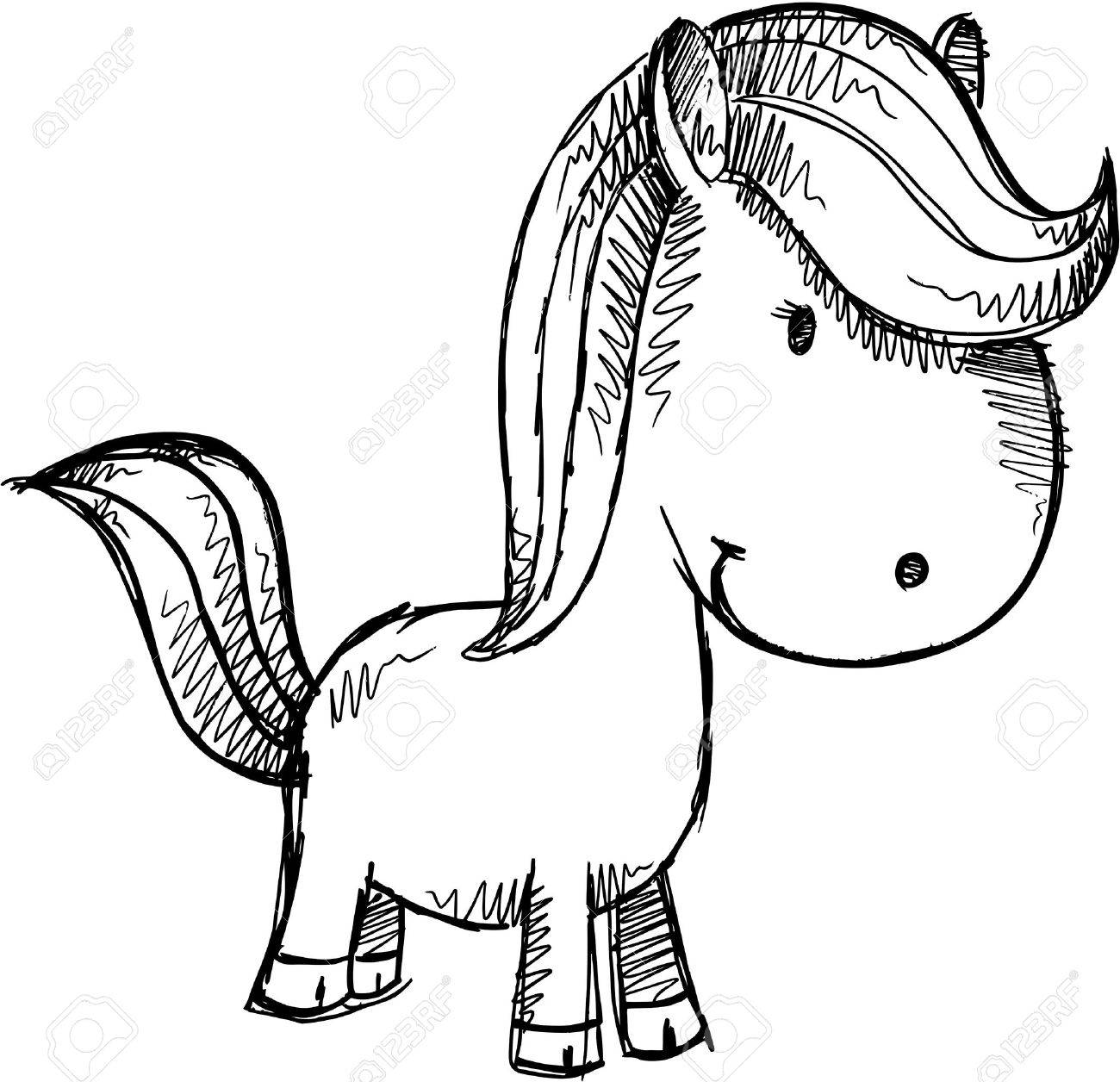 Pony Horse Sketch Doodle Illustration Art Royalty Free Cliparts Vectors And Stock Illustration Image 19266018