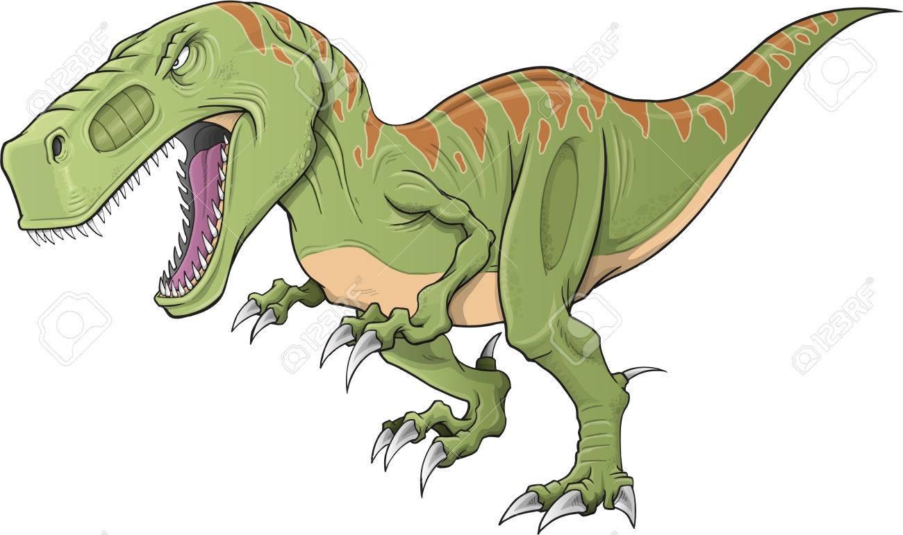 Tyrannosaurus Dinosaur Illustration Art Royalty Free Cliparts