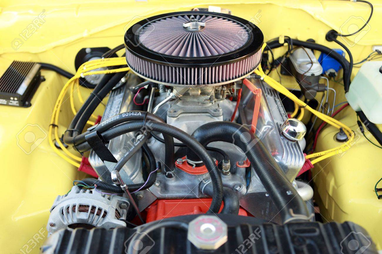 Gasoline powered sports muscle car engine Stock Photo - 4756726