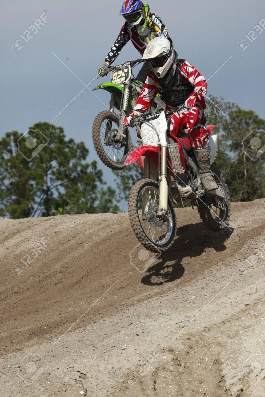 Opening Seminole motocross spring 2010 championship practices Stock Photo - 6889809