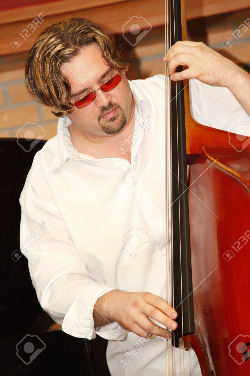 MIAMI BEACH - JUNE 20: Jazz bass player Jamie Ousley performs