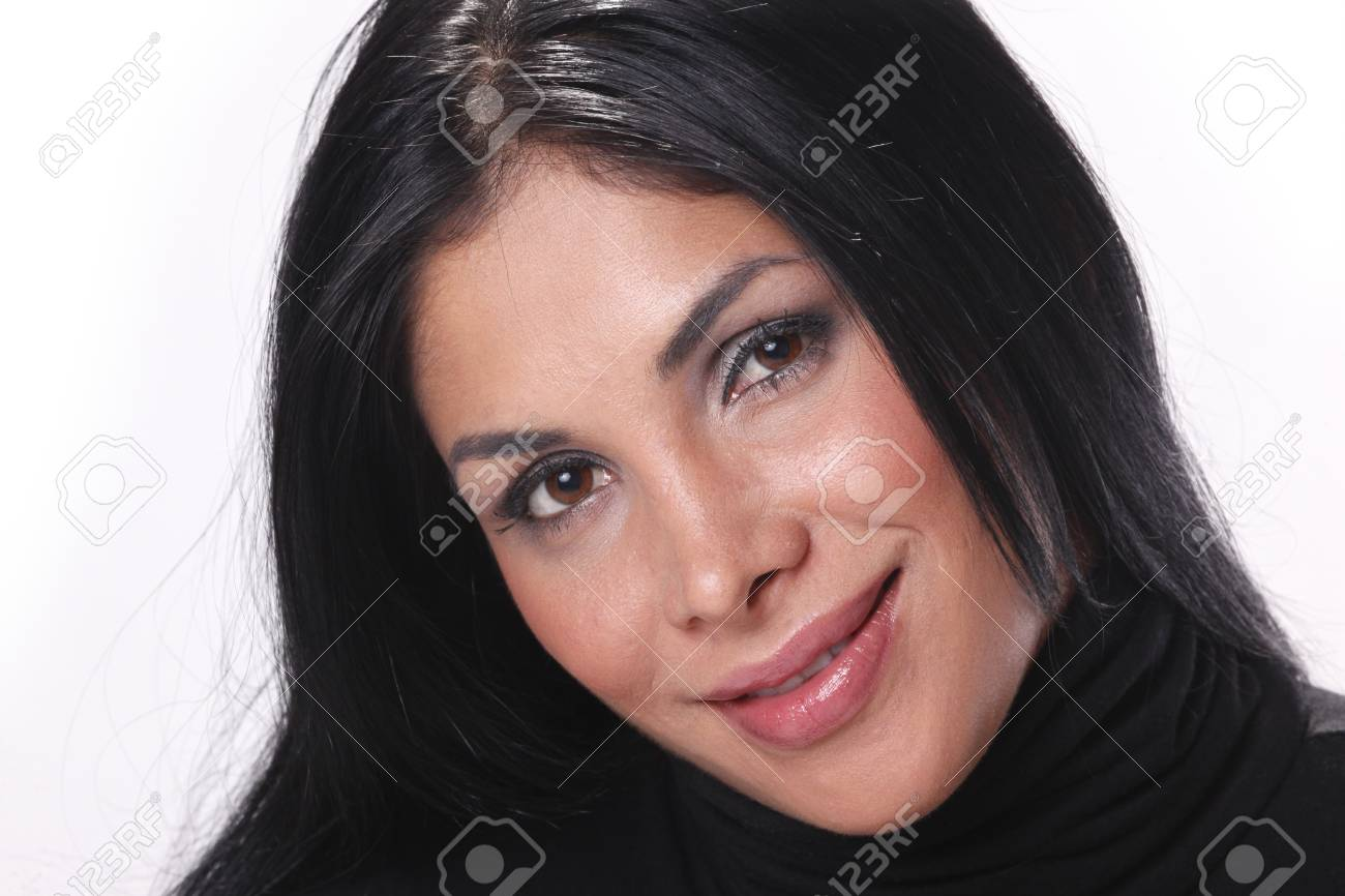 Close-up of a cute brunette Stock Photo - 8118157
