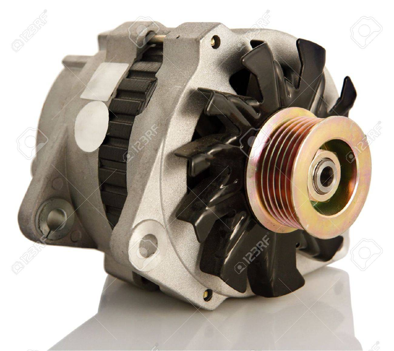 Generic electric automotive alternator isolated Stock Photo - 8335170
