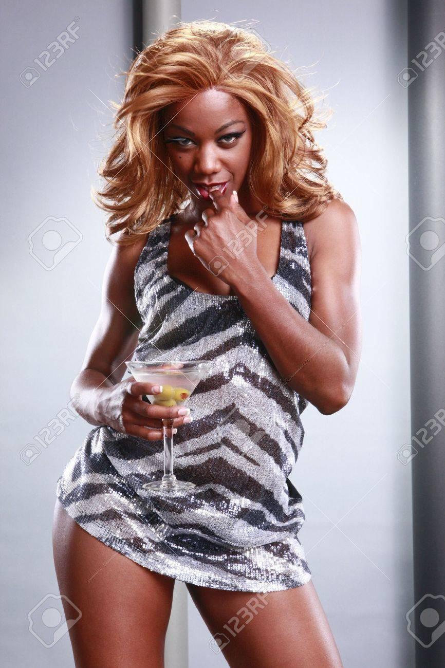 Urban girl and martini cocktail Stock Photo - 10824777
