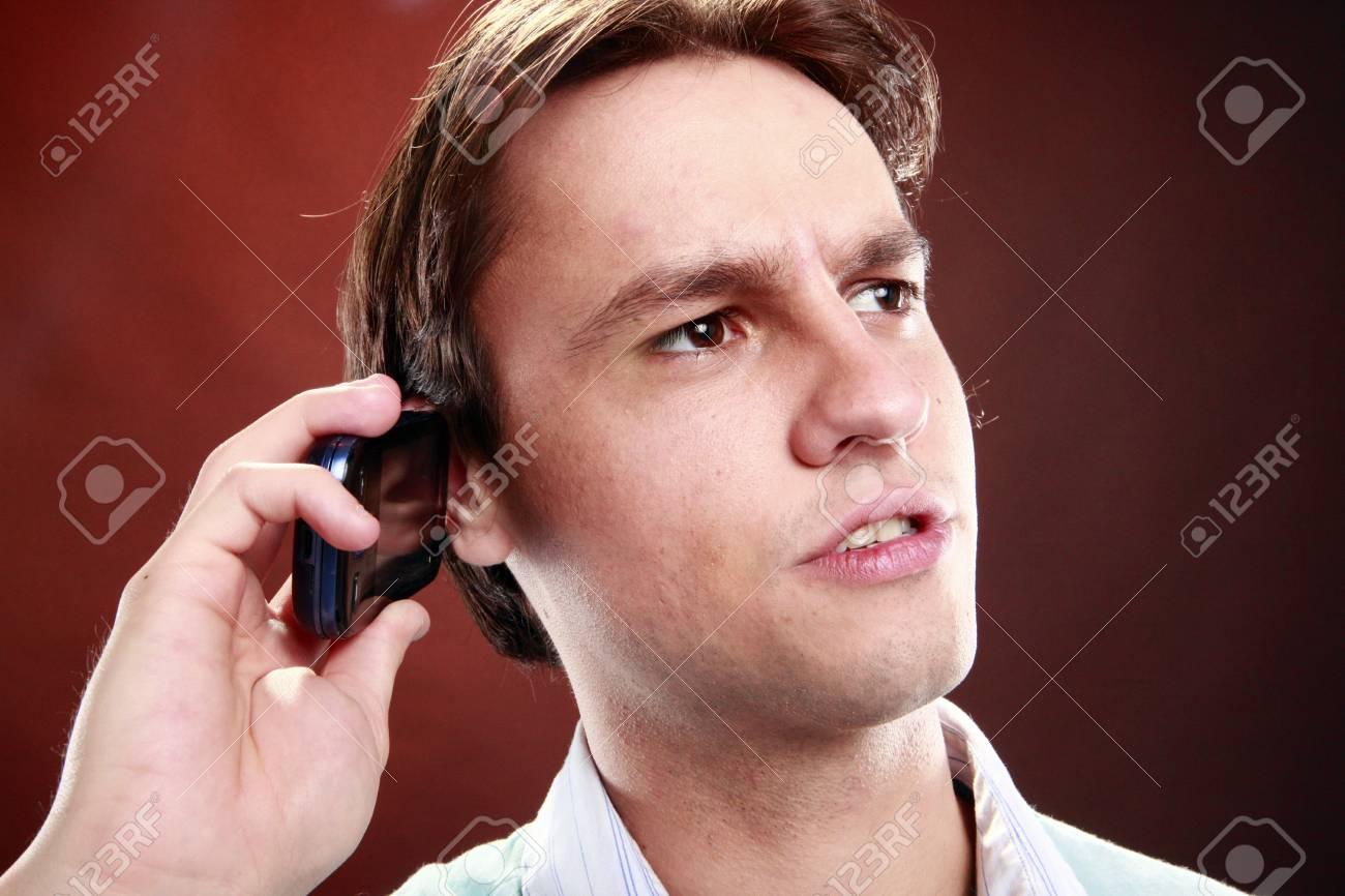 Phone talk expression Stock Photo - 14025754