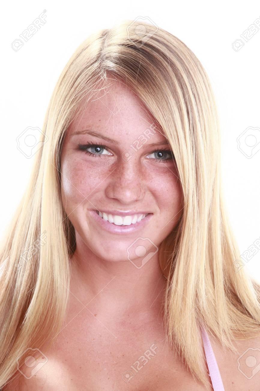 Head shot of a cute blond Stock Photo - 14624187