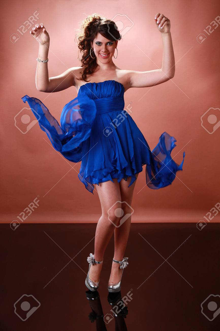 Cute girl ready to party Stock Photo - 17124976