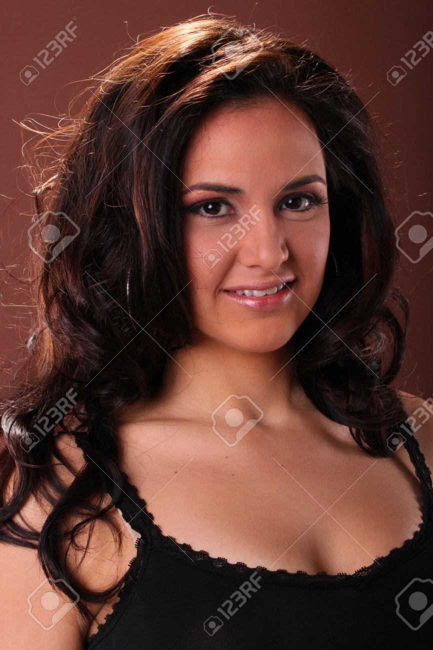 Head shot of a cute Hispanic girl Stock Photo - 17125010