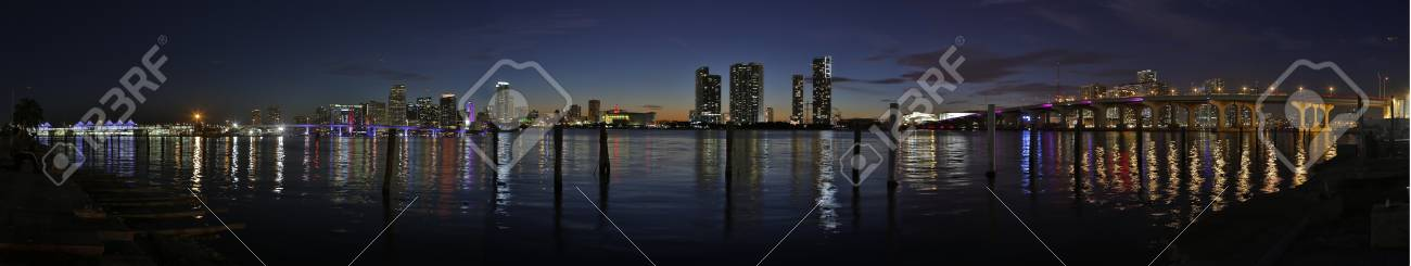 Downtown Miami hdr panorama Stock Photo - 17124793