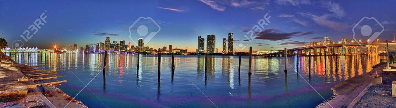 Downtown Miami hdr panorama Stock Photo - 17124966