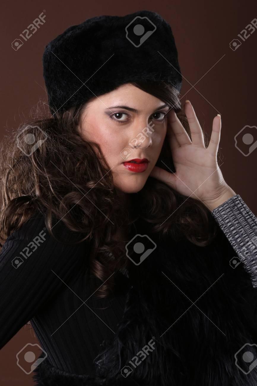 Cute girl in fall attire Stock Photo - 17124894