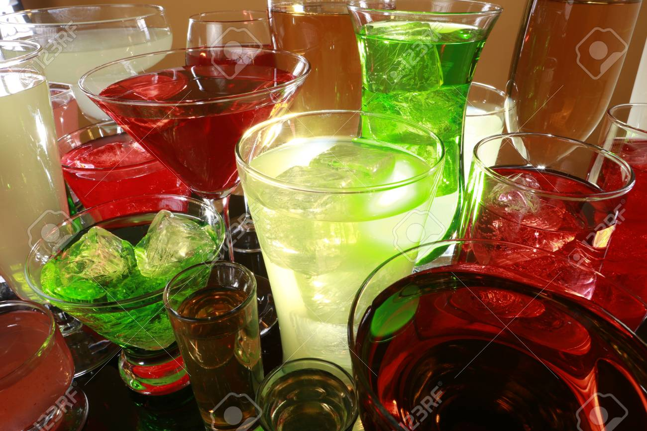 Colorful cocktail variety Stock Photo - 17124992