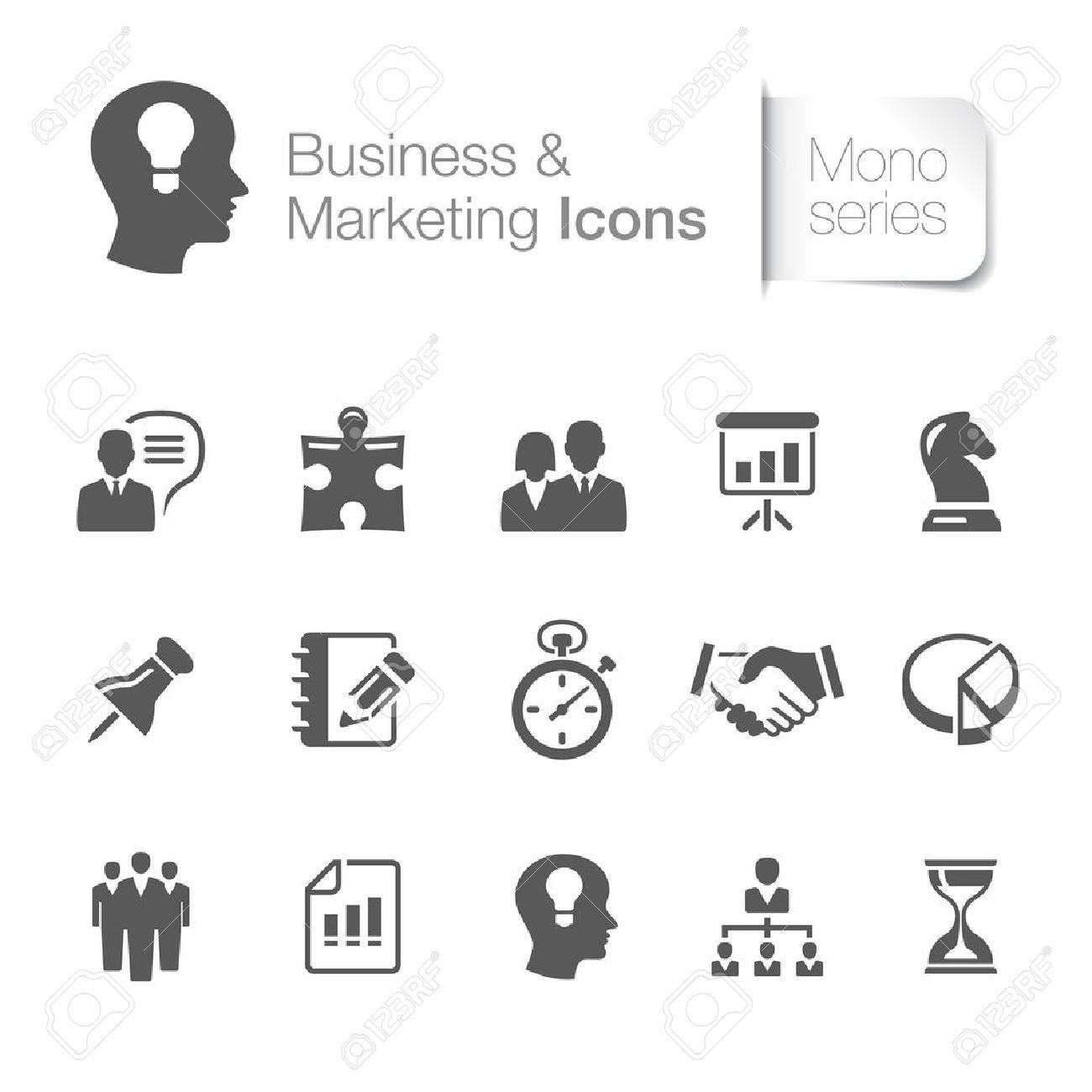 Business and marketing related icons - 20563086