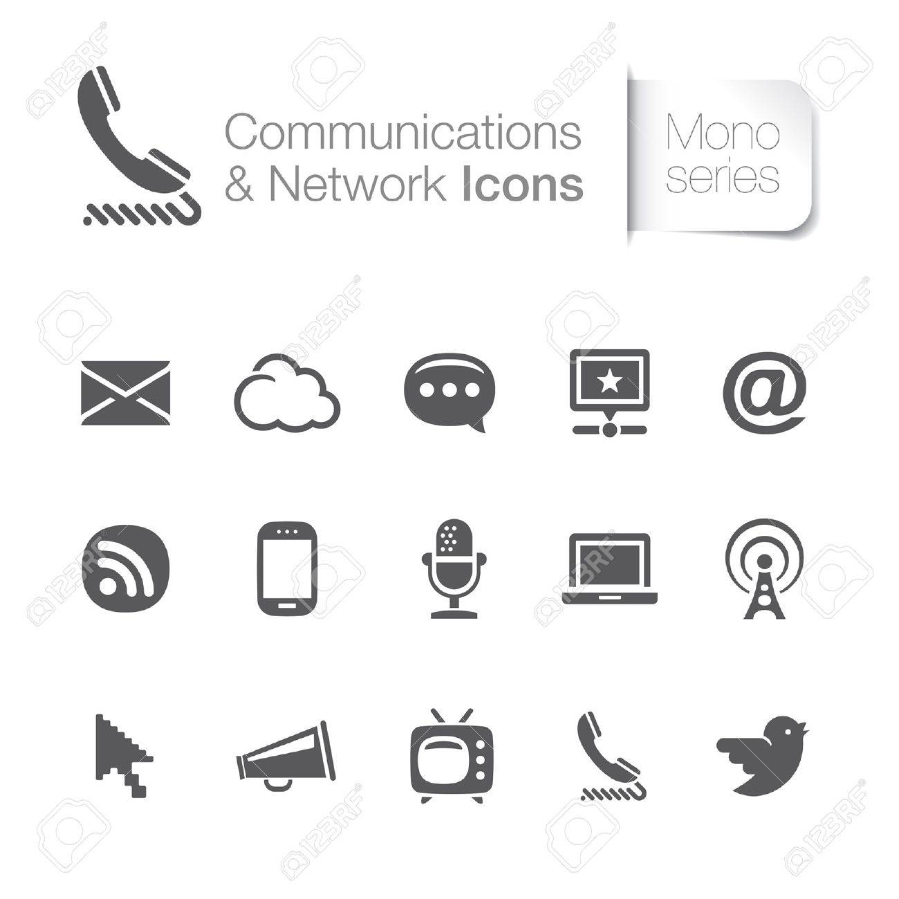 Communication and network related icons Stock Vector - 20563119