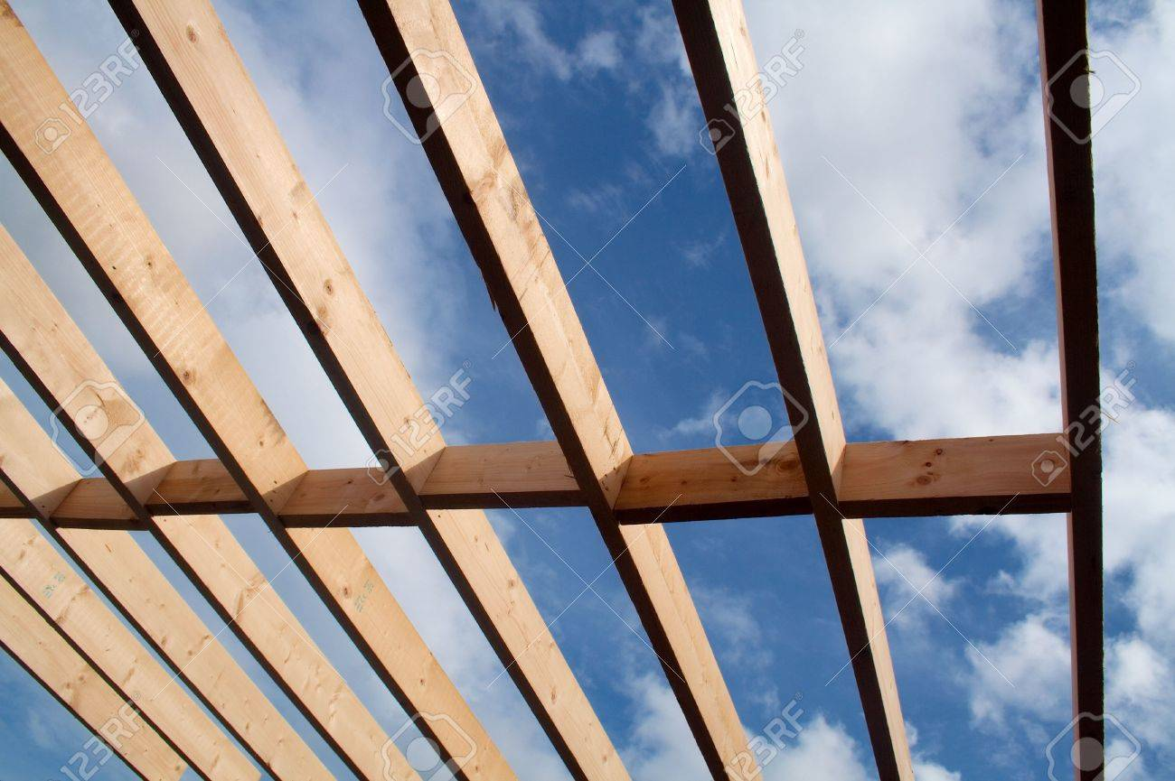 Joists on a building in the process of construction Stock Photo - 7741932