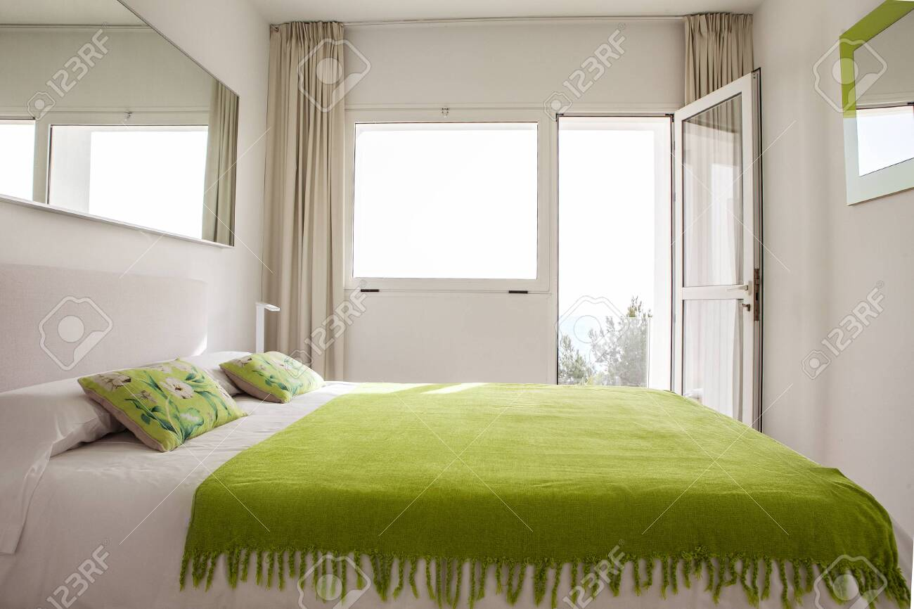 Interior Design In Bedroom Of Pool Villa With Cozy King Bed Stock Photo Picture And Royalty Free Image Image 148229302